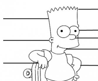Label Bart Simpson