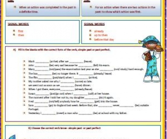 Simple Past vs Past Perfect:Worksheet