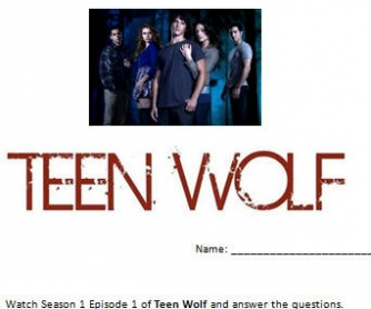 Teen Wolf Worksheet