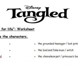 Cartoon Worksheet: Tangled