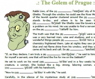 The Golem of Prague: Pronunciation and Short Stories