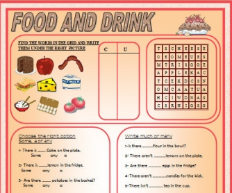 Food and Drinks Activities