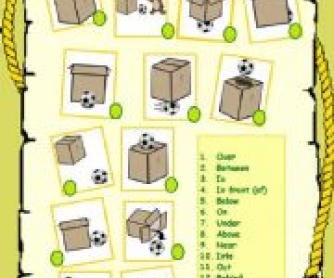 Prepositions of Place Elementary Worksheet