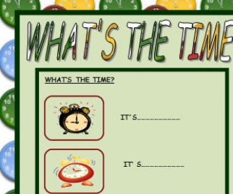 What's The Time? Telling Time Worksheet