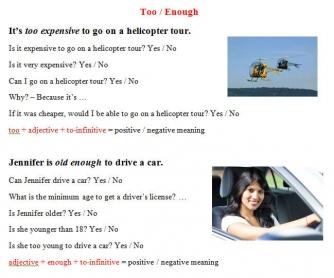 Too / Enough