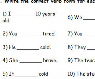 Present Form of Verb To Be