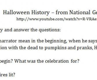 Video Worksheet: Halloween History