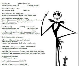 Songs and Phonetics: This is Halloween
