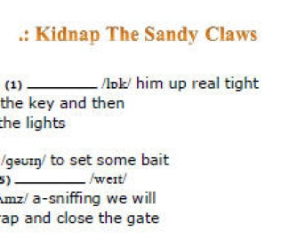Songs and Phonetics: Kidnap the Sandy Claws