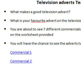 Television Adverts - Effective Persuasive Techniques