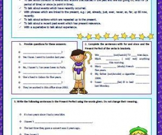 Present Perfect Simple: Revision Worksheet