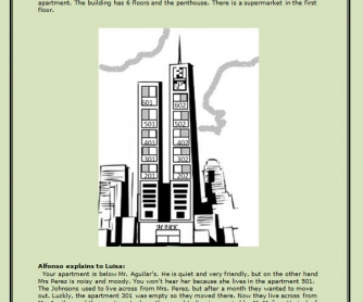 The Apartment Building: Reading Worksheet
