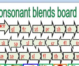 Consonant Blends Board Game