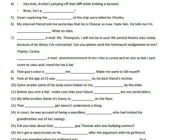 Movie Worksheet: Being Human E01S01