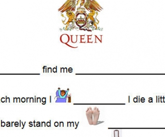 Song Worksheet: Somebody To Love by Queen