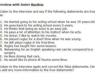 Interview With Javier Bardem [WITH VIDEO]