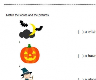 Halloween: Simple Vocabulary Matching Activity