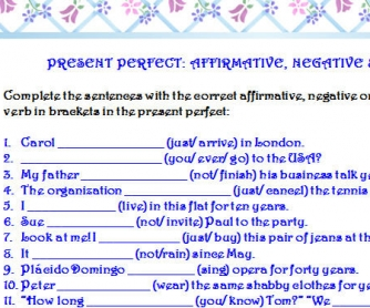 Present Perfect: 3 Forms
