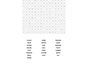 Weather Intermediate Word Search