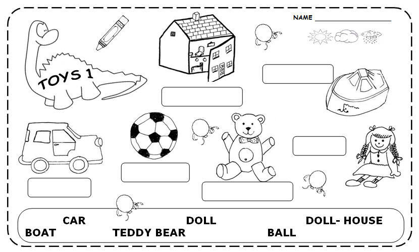 Toy Vocabulary Game : Toys