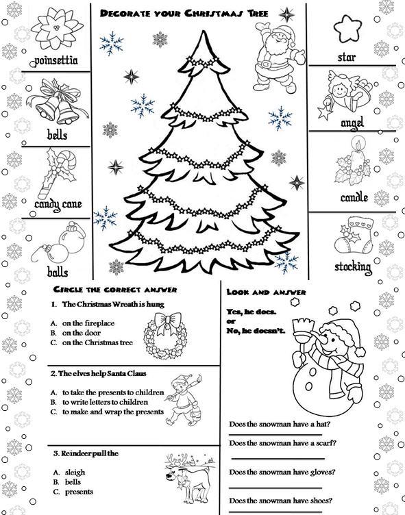 christmas activity sheet - Christmas Activity Printables