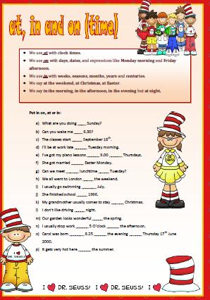 8052 Prepositions Of Time Atinon Elementary Worksheet on Time Management Worksheet