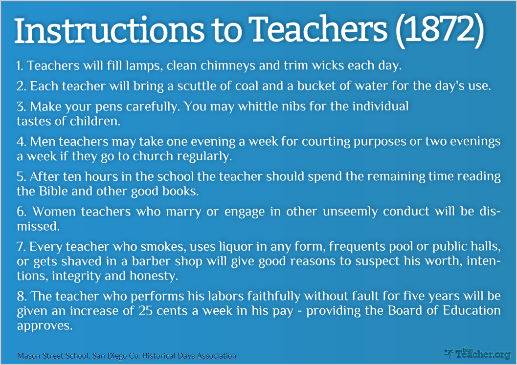 Instructions To Teachers (1872)