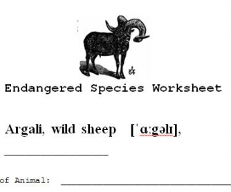 Endangered Species Worksheet