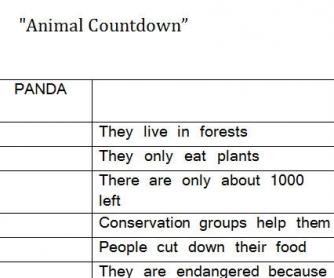 Animal Countdown