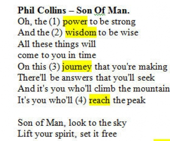 Song Worksheet: Son Of Man by Phil Collins [WITH VIDEO]