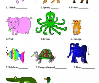 Animal Adjectives