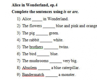 Video Worksheet: Alice in Wonderland