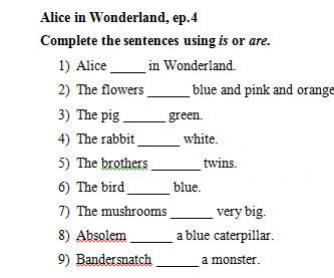 Video Worksheet: Alice in Wonderland