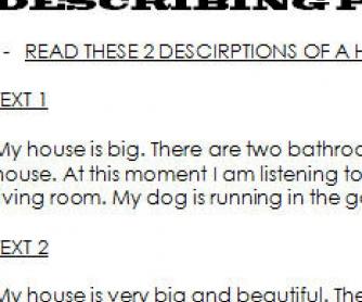 Writing Descriptions