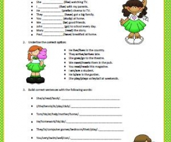 Simple Present Tense: Elementary Worksheet