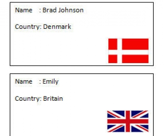 Nationality Cards