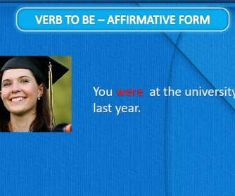 Verb To Be: Past Tense Affirmative