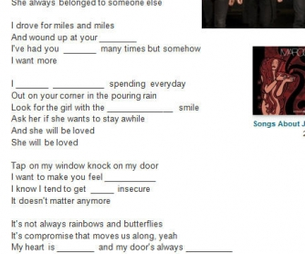 Song Worksheet: She Will Be Loved by Maroon 5