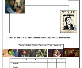 Movie Worksheet: Tangled