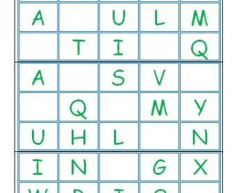 Letter Bingo Cards