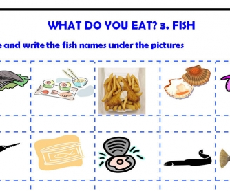 What Do You Eat? Fish 3/5