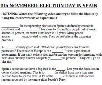 20th November: Elections Day in Spain
