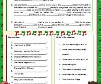 Simple Past Tense: Elementary Worksheet