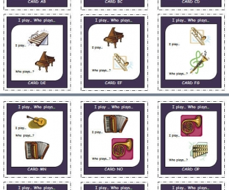 I Play....Who Plays...? Card game set [musical instruments]