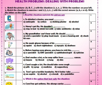 Health Problems: Dealing with Problems
