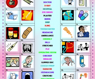 Health Problems Vocabulary Worksheet