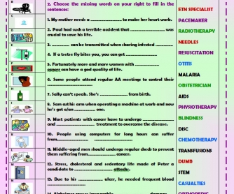 More Serious Health Problems Worksheet