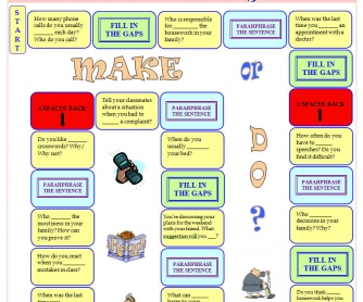 MAKE or DO Boardgame