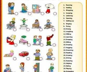 Action Verbs Matching Activity  Action Verbs