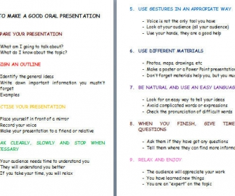 How To Make A Good Oral Presentation